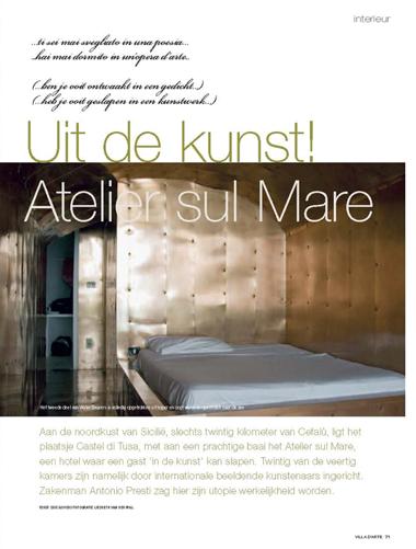 Atelier Sul Mare, een bijzonder hotel op Sicilie