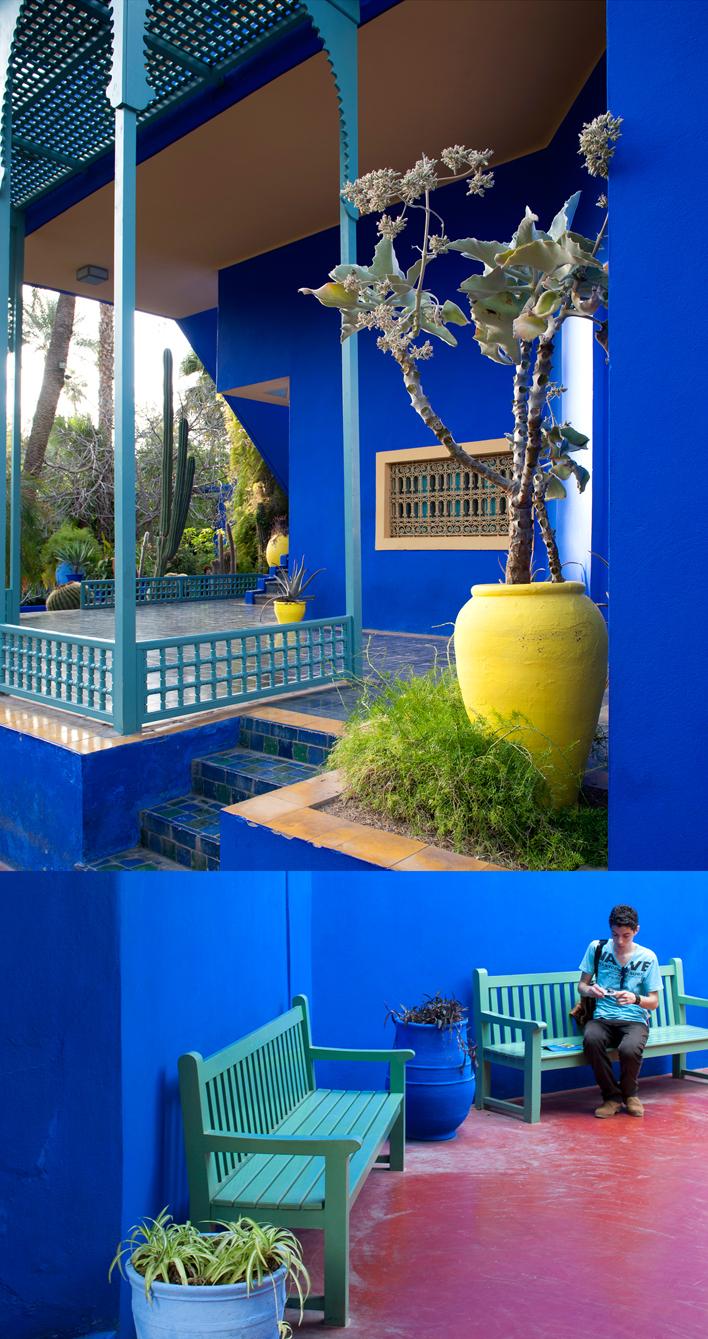 Jardin Majorelle in Marrakech in Om de West voor Santmedia.nl ©santmedia.nl