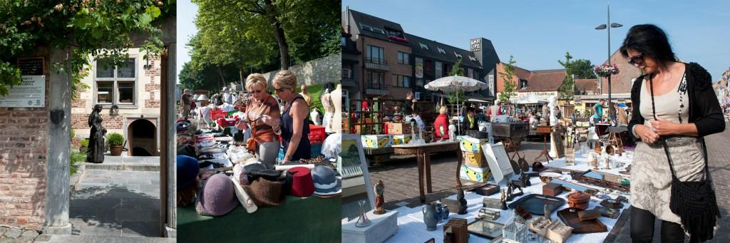 de Brocantemarkt van Tongeren Belgie in Om de West voor Santmedia.nl ©santmedia.nl